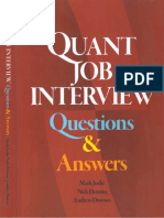 [Mark Joshi]Quant Job Interview Questions And Answers.pdf