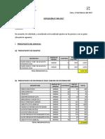 Cotización Nro 004-2017
