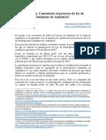 Comentario Al Proyecto de Ley de Participación Ciudadana de Andalucía