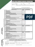 Formulario Lic Examen Medico Preventivo