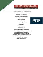 Reporte de Práctica No.1 Pirolisis