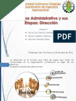 Dirección en El Proceso Administrativo