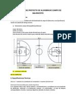 4PC Campo de Basket