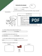 Evaluación Lenguaje Primero-Adaptada