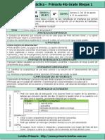 Planeacion  4to Grado  Bloque 1 Ciencias Naturales (2017-2018)