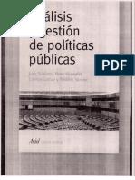 2 Analisis y Gestion de Politicas Publicas, Subirats y Otros, Capitulo 2