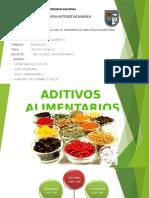 Aditivos Quimicos en Los Alimentos