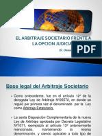 El Arbitrate Societario Frente a La Opcion Judicial 2016-2 - Derecho Comercial II (Sociedades i)