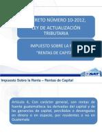 Rentas de Capital 10-2012