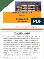 Derecho Comercial II-2017-2 (Primera Parte) - Derecho Comercial II (Sociedades i)