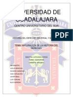 Historia Del Derecho Universal y Mexicano. Primera Unidad.