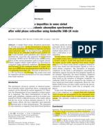 7 Impurezas en Ni por FAAS + extraccion fase solida