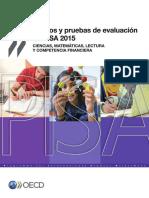 OCDE 2015 Pruebas Pisa Marco de La Evaluación