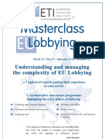 Understanding and Managing the Complexity Off EU Lobbying