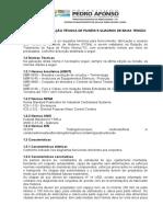 Especificação Técnica de Painéis e Quadros de Comando