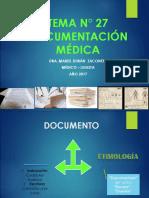 TEMA 27 DOCUMENTACIÓN MEDICA  2017.ppt
