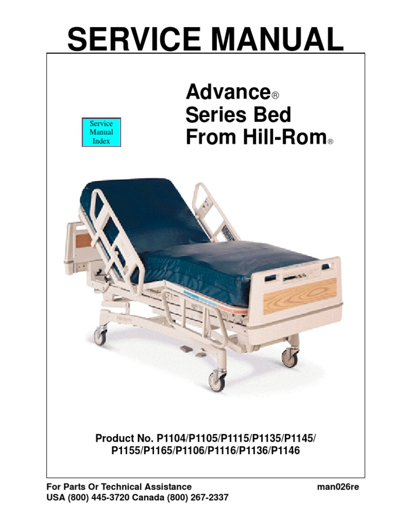 Hill-Rom Advance Bed - Service Manual   Troubleshooting   Manufactured Goods
