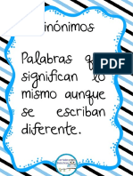 Sinónimos Tarjetas PDF