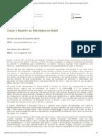 SBHC - Sociedade Brasileira de História Da Ciência - Boletim - Boletim 8 - Corpo e Esporte Na Psicologia No Brasil