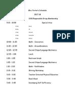 porters schedule 2017-18 a