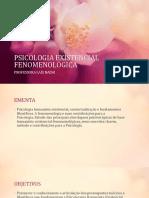 Psicologia Existencial Fenomenologica