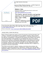 Maria Casalini's 2013 article, 'The Family, Sexual Morality and Gender Identity in the Communist Tradition in Italy (1921–1956)'.