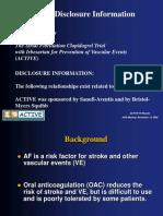 ACTIVE W Preliminary Results-AHA Nov 2005