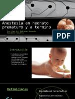 Manejo Anestesico RNT y Prematuro MFC