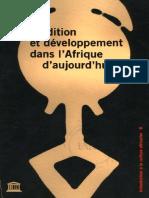 A_ Tradition Et Developpement en Afrique d'Aujoud'Hui.