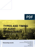 Types and Timing of Audit Procedures