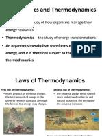 Lecture 2- BioEnergetics