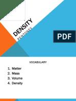 density notes 2016