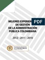Mejores Experiencias de Gestión 2010-2012