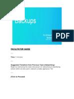 [Presentation] Backup Training Module