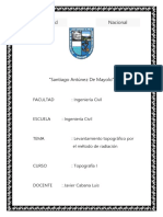 Informe de Topgrafía N°03Radiacion nixon