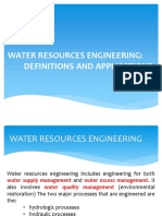 1 - Water Resources Engineering Definitions and Applications