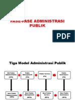 Fase-fase Administrasi Publik