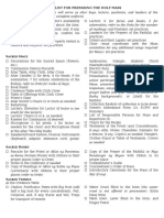 Checklist for Preparing the Holy Mass