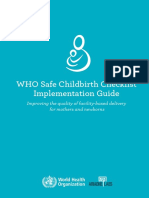 Who-safe Childbirth Checklist Implementation Guide