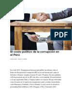 CIENCIA POLÍTICA  - El costo político de la corrupción en el Perú