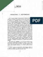 CIENCIA POLÍTICA  - Legalidad y Legitimidad