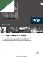 Behringerx32producer Mixer Manual