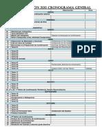 Cronograma General 2011