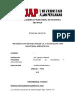Escuela Academico Profesional de Ingenieria Mecanica
