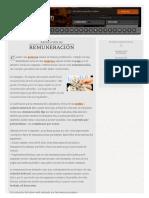 Definición de Remuneración - Qué Es, Significado y Concepto
