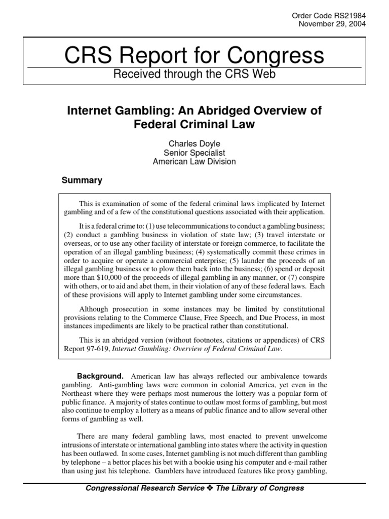 International gambling law fitzgearld casinos in tunica ms