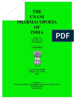 Unani Pharmacopoeia of India Part II Vol 3