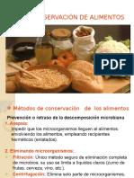 Principios Generales de La Conservacioon de Alimentos