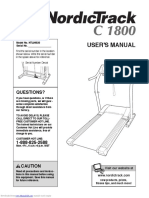 NordickTrack 1800 - Treadmill Manual