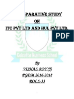 A Comparative Study on ITC Pvt Ltd and HUL Pvt Ltd